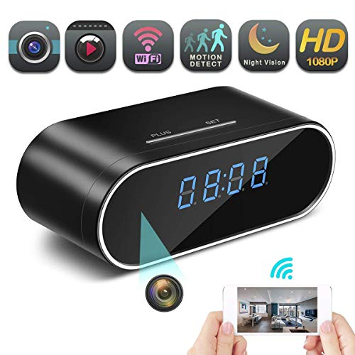 Hidden Spy Camera Wireless Hidden, 1080P Clock Hidden Cameras Wireless IP Surveillance Anti Mosquito Camera for Home Security Monitor Video Recorder Cam 150 Angle Night Vision Motion Detection
