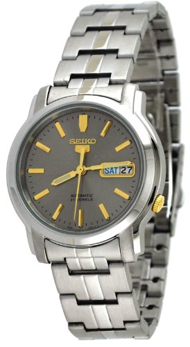 Seiko-Mens-SNKK67-Stainless-Steel-Analog-with-Grey-Dial-Watch