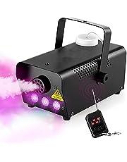 Morfit rookmachine, 500 W, met 2000 CFM mist 3-stage LED-kleurlichten, bekabelde en draadloze rookmachine op afstand te bedienen rookmachine voor Halloween-bruiloftsfeesten en podiumeffect
