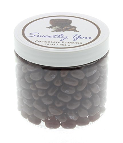 Jelly Belly 1 LB Chocolate Pudding Flavored Beans. (One Pound, 1 Pound) Bulk Jelly Beans in a resealable and reusable jar. (Jelly Belly Chocolate Jelly Beans)