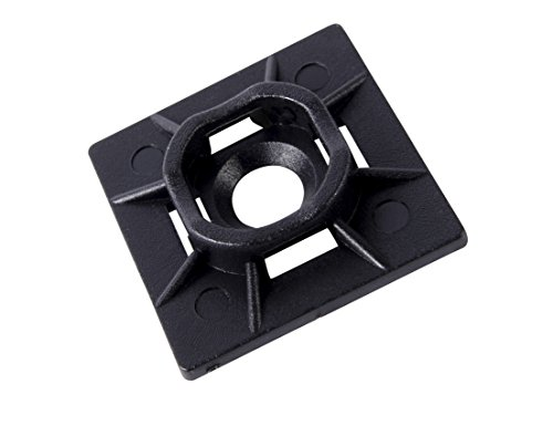 Gardner Bender MB-20UVB Cable Tie Mounting Base, 1 Inch. x 1 Inch., Wire / Cord Management Industrial and Household Use, 100 Pk., UV Resistant - Mb Mounting