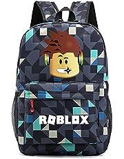 Schooltassen - Kids Roblox Rugzak Student Boekentas, Laptop Dagrugzak Rugzakken Tas voor Jongens Meisjes Tieners, Roblox Game Fans Gift