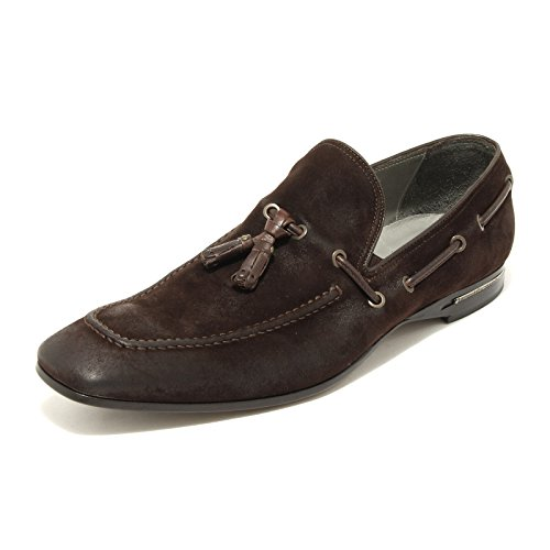 9028G mocassino uomo testa moro BARRACUDA scarpa scarpe loafer shoes men testa moro