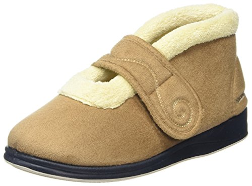 Padders Hush 409 - Ee Fit Camel Slippers Beiges