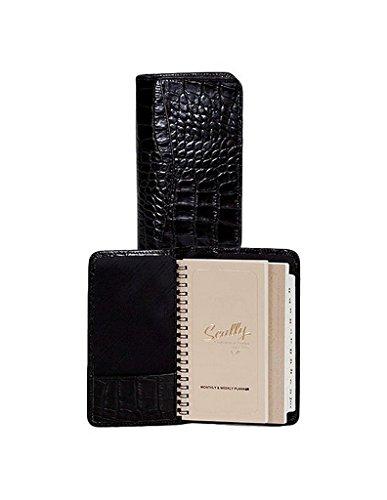Croco Pocket - Scully Leather Pocket Agenda Croco 5008 Address Books,Black