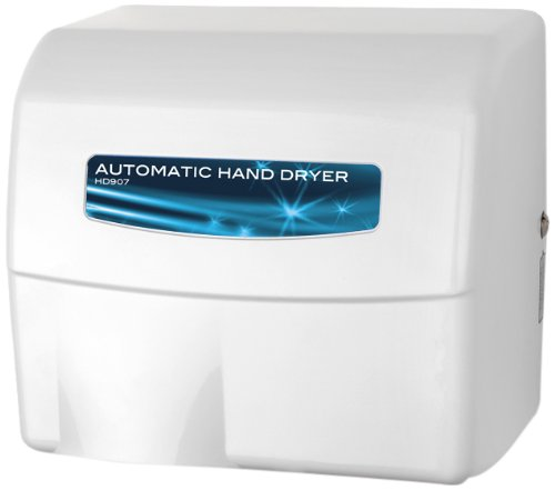 7-17 Hand Dryer, Commercial Painted Cast Aluminum, White (Palmer Fixture White Metal)