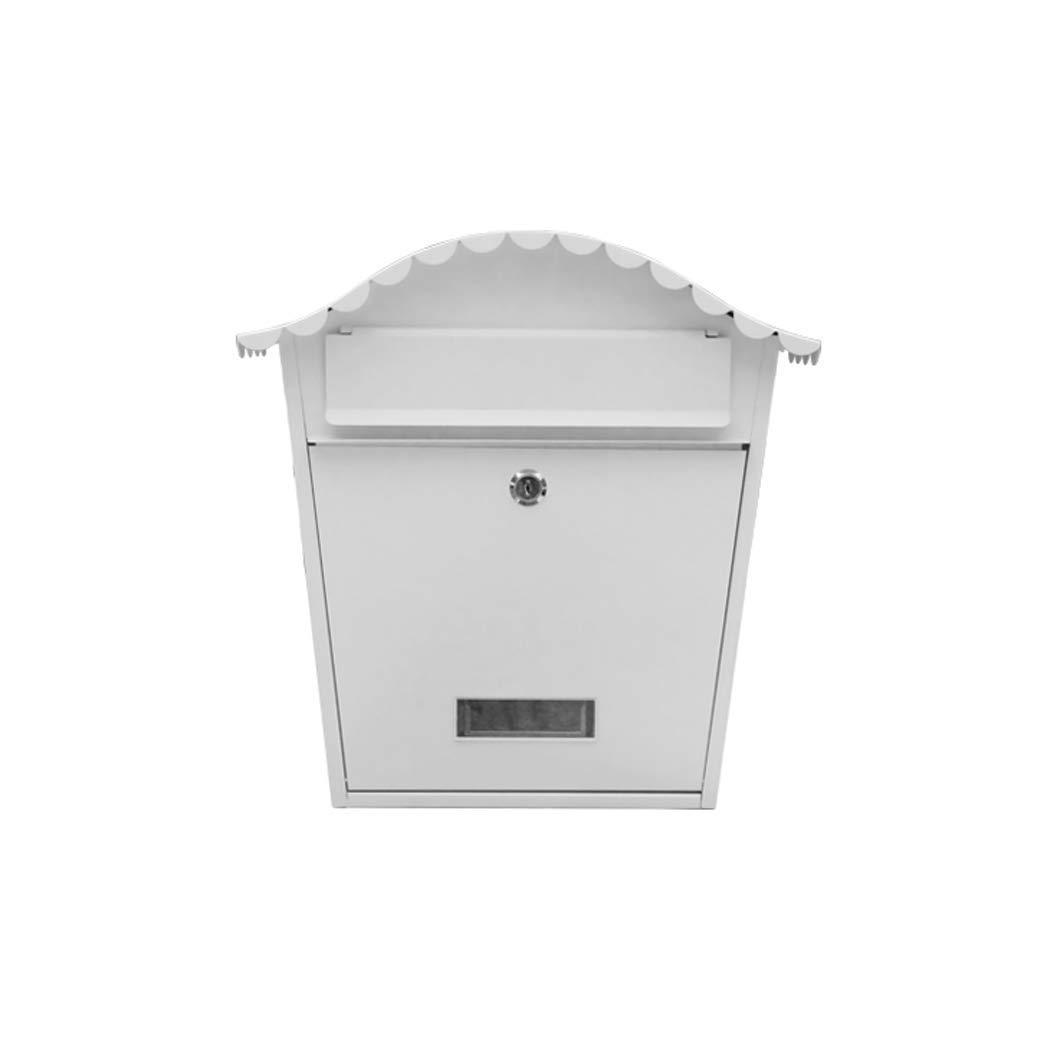 ヨーロッパの箱の屋外の壁に取り付けられた創造的な防水新聞箱、明白な白 屋外セキュリティメールボックス   B07SB1HFL6