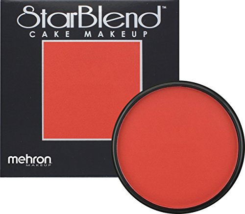 [Mehron Makeup StarBlend Cake Makeup RED – 2oz] (Costume Makeup Wax)