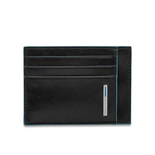 Piquadro Blue Square - Piquadro Blue Square Credit Card Case, 0.27 liters, Black (Nero)