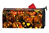 WilBstrn Holiday Halloween Jack-o-Lantern Light Candle Magnetic Mailbox Cover Yard Decor Standard