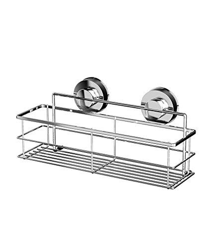 Bathla Dual Suction Stainless Steel Short Bottle Shelf/Rack