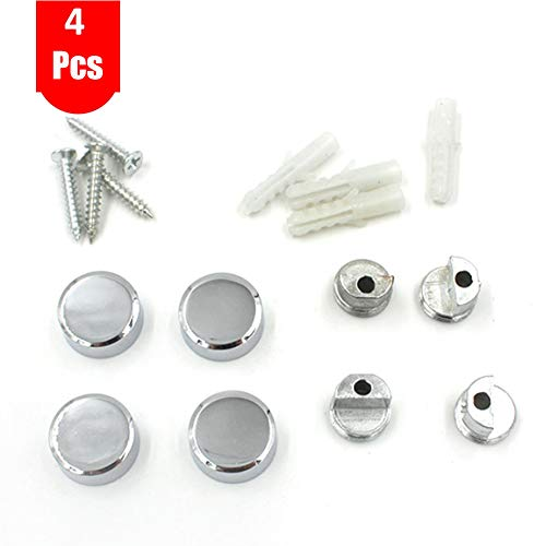4Pcs Zinc Alloy Mirror Floating Glass Clip Set- Wall Mounted Mirrors Bracket/Clip -