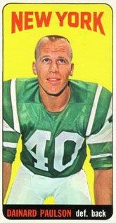 1965 Topps Regular (Football) Card  123 Dainard Paulson of the New York Jets 7dc0f7c15