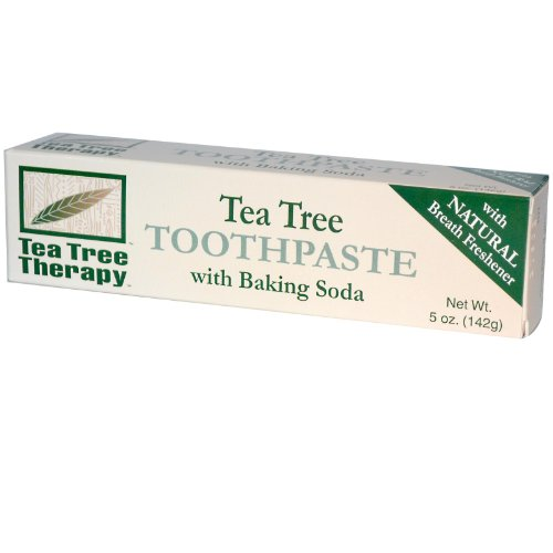 Tea Tree Therapy Tea Tree Toothpaste, with Baking Soda 5 oz (142 g) (Tree Tea Mouthwash Therapy)