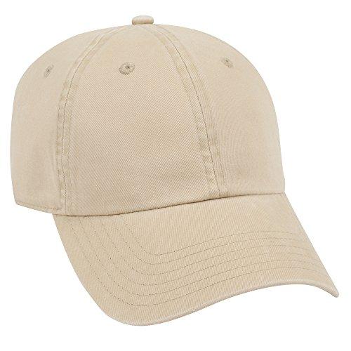 Superior Combed Cotton Twill 6 Panel Low Profile Dad Hat - Khaki ()