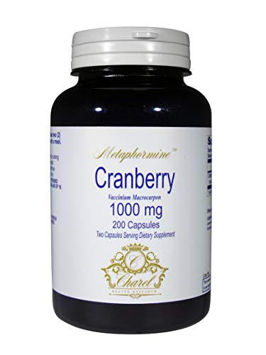Cranberry Pills 200 Capsules 1000mg – 100 Day Supply of Cranberry Concentrate Pills to Support UTI Treatment, Bladder and Urinary Health – All Natural Ingredients