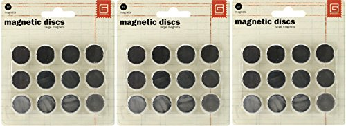 Basic Grey 5/8-Inch-by-1/32-Inch Magnetic Snaps Large. (3 Pack) by BasicGrey