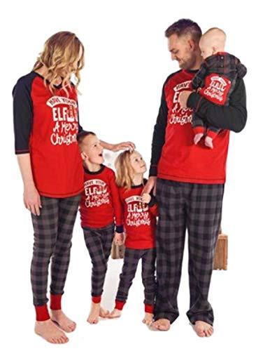Christmas Family Pajamas Pjs for Women Men Kids Baby bedbead 49 jibanian Ladies Shorts Shorts Set nielodeon Plaid Shorts Lightweight Girls Size 5 Christmas moew lav ty Girls Linen Lake uf Gown