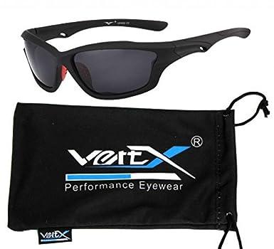 Gafas de sol polarizadas VertX varonil deporte ciclismo correr al aire libre - mate marco negro.Lente de humo: Amazon.es: Deportes y aire libre