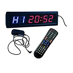 BESTLED Crossfit Interval Timer Stopwatch Wall Clock w/IR Remote Control(14x4x1.5)