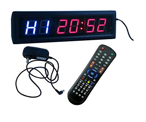 BESTLED Crossfit Interval Timer Stopwatch Wall Clock w/ IR Remote Control(14''x4''x1.5'') by BESTLED