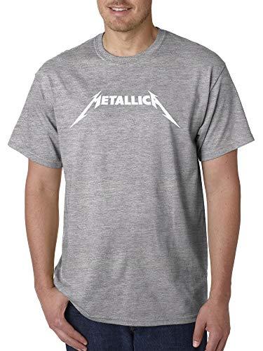- New Way 925 - Unisex T-Shirt Metallica Metal Rock Band Logo XL Heather Grey