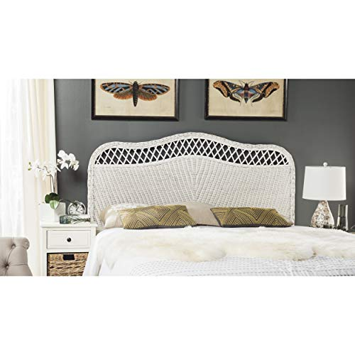 Safavieh Home Collection Sephina White Rattan Headboard (Queen)