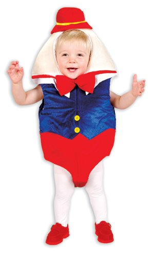 Humpty Dumpty Egg Toddler Halloween Costume size 2T-4T