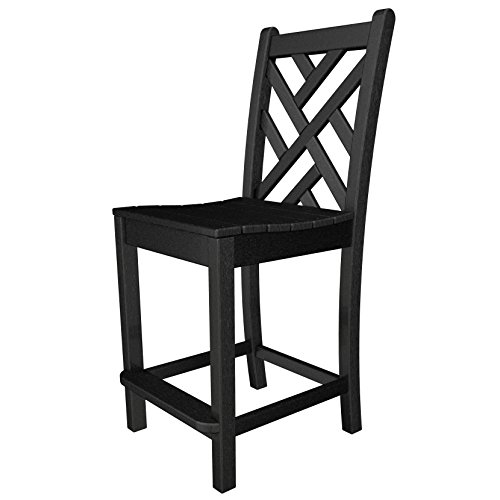 Chippendale Counter Side Chair Finish: Black