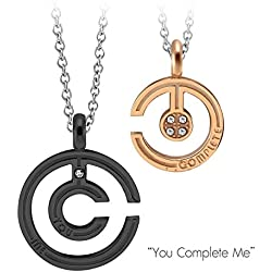 """Sale!!! couple """"you complete me"""" pendant and chain necklace."""