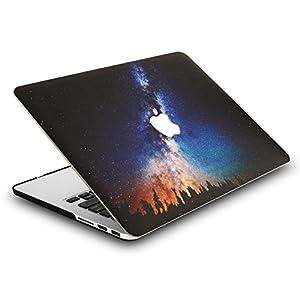 "KEC MacBook Pro 13"" Retina Case (2015) Cover Plastic Hard Shell Rubberized A1502 / A1425 (Night Sky)"