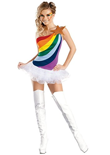 [BeautyXTP Women Sexy Athletic Cheerleader Fancy dress Costume Uniform Outfit (Rainbow)] (Cheerleader Outfit For Sale)