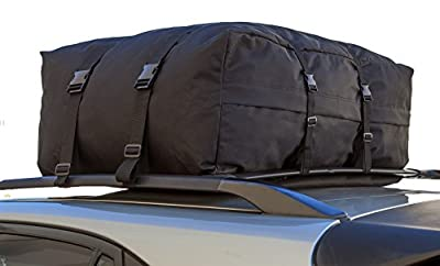 OxGord Car Van Suv Roof Top Cargo Rack Carrier Soft-Sided Waterproof Luggage Travel Bag - 10 Cubic Feet
