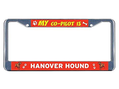 YEX Hanover Hound Dog My co-pilot Metal License Plate Frame Aluminum Frame Tag Holder 12