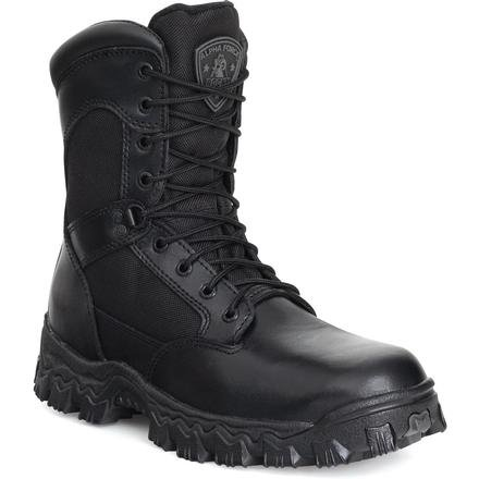 "Rocky FQ0002165 8"" Alpha Blk Waterproof Medium 9 Duty Boots"