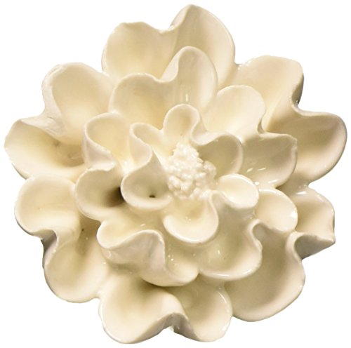 Abbott Collection Sculpted Ivory Flower Drawer Knob