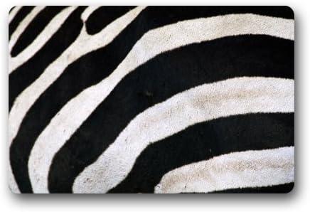 Doubee Cebra Felpudo jardín y casa de Goma Antideslizantes Felpudo para Interior/al Aire Libre Fibra de Coco Resistente 46 cmx76 cm, Tela, A, 18