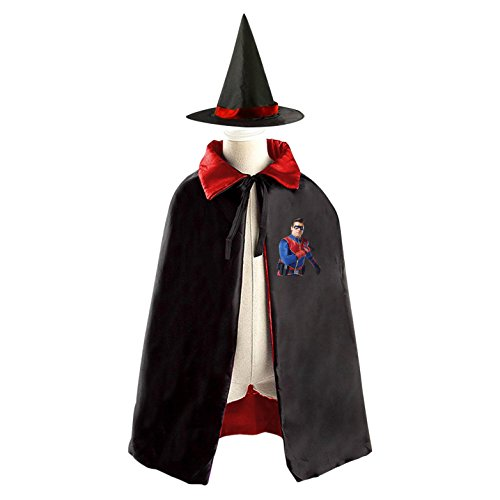 DIY Henry Danger Costumes Party Dress Up Cape Reversible with Wizard Witch (Costume D'halloween Diy)