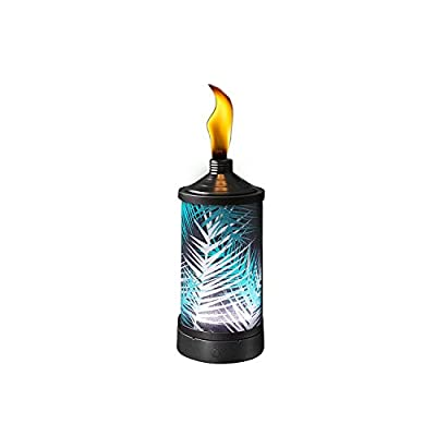 TIKI Brand Glowing Table Torch - Polynesian Palm