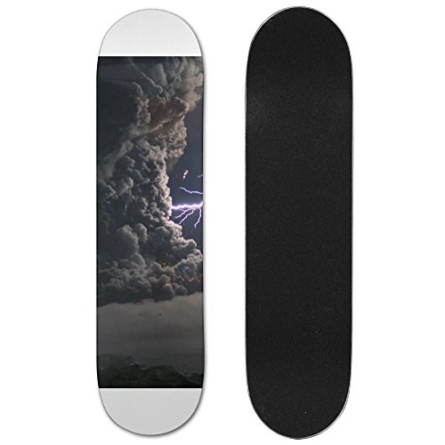 Cats Storm Lightning Vogue Double Warped Skateboard Deluxe Longboard Skate Boards (Tape Skateboard Grip Lightning)