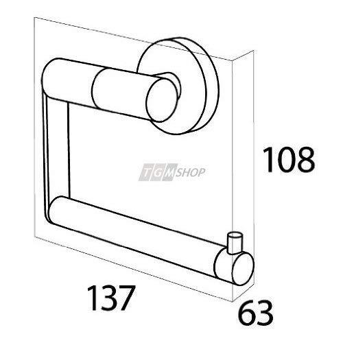 Edelstahl geb/ürstet Tiger Zapp Toilettenpapierhalter