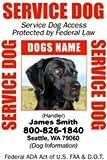 PERSONALIZE Dean & Tyler Service DOG ID Badge - 1 Dog's Custom ID Badge - Design#2- Vertical.