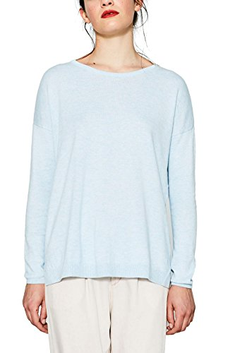 edc by Esprit, Suéter para Mujer Azul (Light Blue 440)
