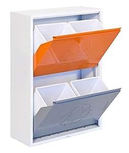 SimonRack SI1529 Armario Reciclar 4 Cubos, 920 x 630 x 250 mm