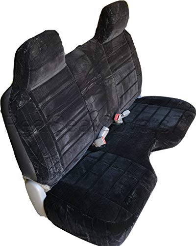 RealSeatCovers for Front Bench A27 Thick Triple Stitched Molded Headrests Large 5 to 7 inch Shifter Cutout Exact Fit Seat Cover for Toyota Tacoma Regular Cab (Black)