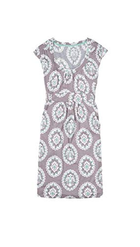 BODEN Soft Stretch Cotton Blend Weekend Casual Jersey Paisley Dress US 4 from BODEN