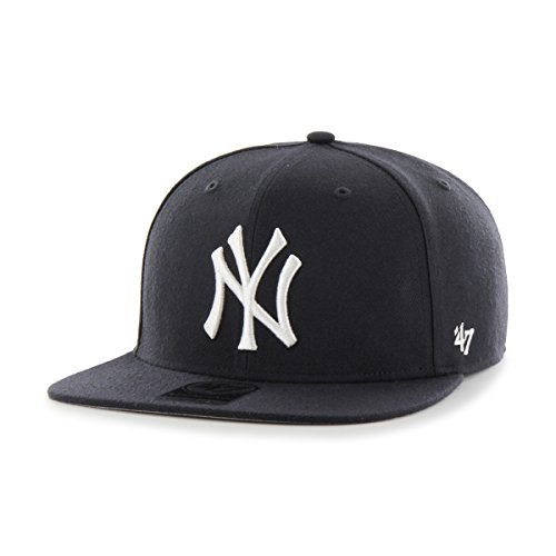 '47 MLB New York Yankees Sure Shot Captain Wool Adjustable Hat, One Size, Navy