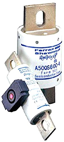 200kA AC//87kA DC Mersen A50QS Semiconductor Protection Fuse with Bolt-In Mount 700 Ampere 2-3//8 Diameter x 6-15//32 Length 2-3//8 Diameter x 6-15//32 Length A50QS700-4 500VAC//DC