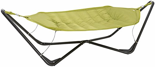 SORARA Hammock with Steel Frame Stand Patio Outdoor Backyard Garden Pool 11 x 5 ft, Green