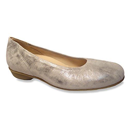 Scarpe Da Donna Durea Mary Flats In Peltro Metallizzato